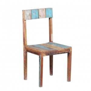 Liberty Finished Reclaimed Wood Dining Chair Multi Colors