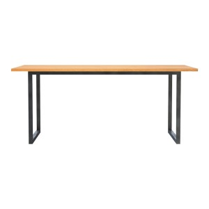 Industrial Rustic Solid Wood Dining Table Natural