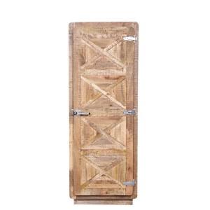 X - Design Indian Reclaimed Wood Single Door Storage Display Cabinet Natural