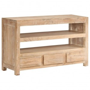 AVALON Solid wood 3 Drawer & 2 Shelf Tv Unit 90cm