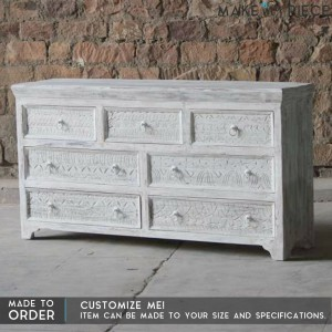 Reclaimed wood Chest of Drawers Sideboard Whitewash
