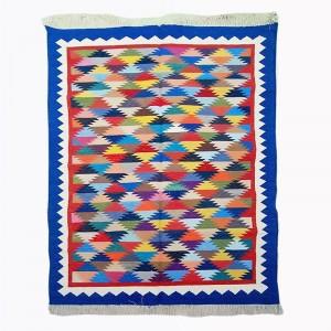 Kilim Wool Handwoven Cotton Dhurrie Durry Rug Jute Floor Covering Pattern 9