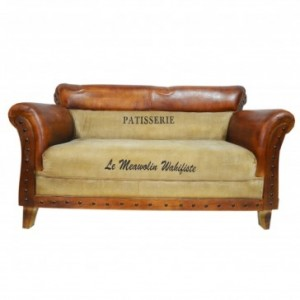Aged Leather Brown 3 Seater Sofa Patisserie B
