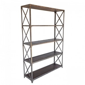 Angle Industrial XL Bookshelf book stand Chocolate 135cm