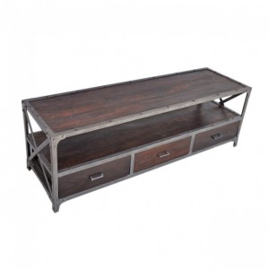 Angle Industrial Entertainment unit TV Stand Chocolate L