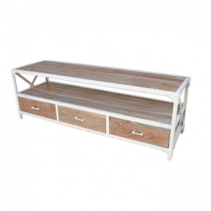 Angle Industrial Entertainment unit TV Stand White L