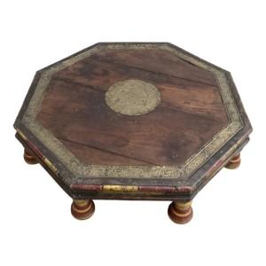 Antique Indian Low Bajot Coffee Table 72cm