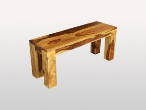 Solid Sheesham Wood Dining Bench
