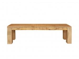 Solid Wood Dhaka Bench Natural 120x35 cm
