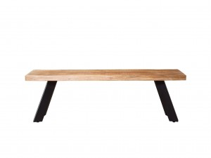 Industrial Retro Dining Bench Natural 130 cm