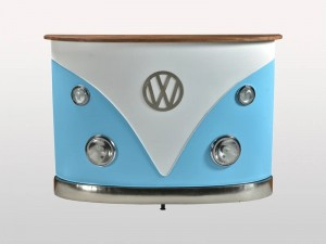 Transport Vintage VW Combi Car Bar Counter Blue