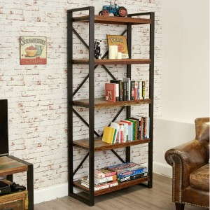 Aspen Reclaimed Wood Industrial large Bookshelf Book case