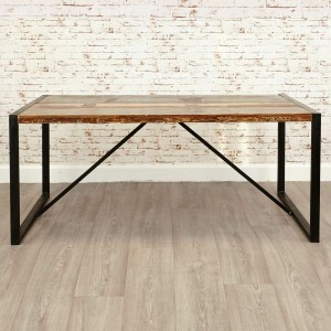 Aspen Reclaimed Wood Industrial Large Dining Table 180cm