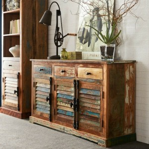 Aspen Colonial Reclaimed Wood Industrial Sideboard Buffet 150cm