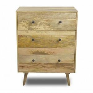 AVALON Solid wood Chest of 3 Drawers 100CM