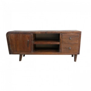Avalon Scandinavian TV Unit Plasma Stand - Natural Brown