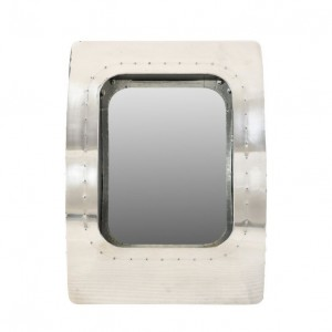 Aviator Aluminium Aviation rivet detail bathroom wall mirror frame 47x17x65cm