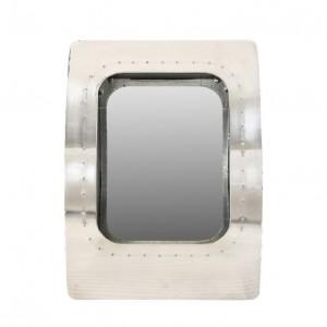 Aviator Aluminium Aviation rivet detail bathroom wall mirror frame 47x17x65cm