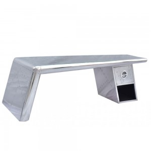 Aviator Aluminium Aviation rivet detail unusual rectangle coffee table 130x60x45cm