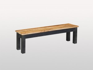 Industrial Solid Wood Dining Bench 154 cm