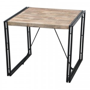 BARN wood Industrial Square Dining Table