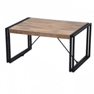 BARN Industrial Coffee Table 90Cm Natural