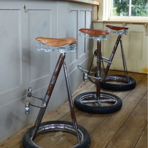 Bike Wheel Bar Stool