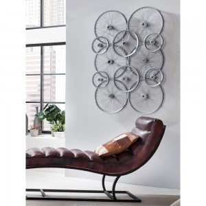 Bike Wheel Recycled Wall Art