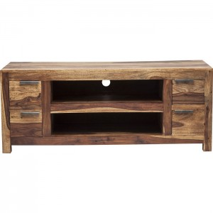 Boston Silver Contemporary Solid Wood Entertainment TV unit Plasma Stand