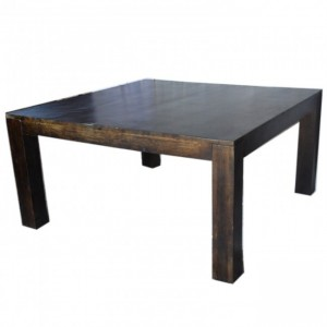 Boston Square Dining Table Dark Brown