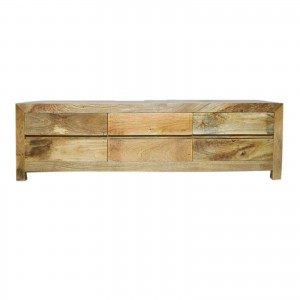 Contemporary Boston Solid Mango Wood TV Unit