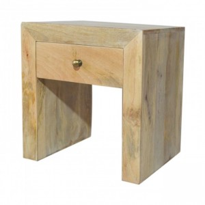 Contemporary Boston Square Mango wood Bedside Natural