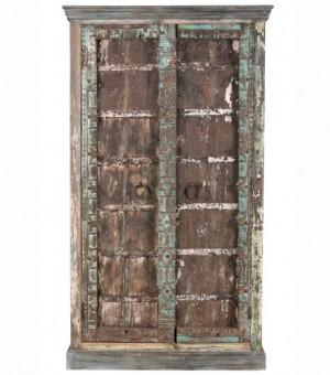 Antique Vintage 2 Doors Sideboard Solid Wood Indian Brocante