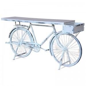 WOW UPCYCLED RETRO BICYCLE WHITE WASH
