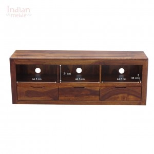 MADE TO ORDER Indian Solid Wood TV Unit Honey Brown 150x40x55 cm