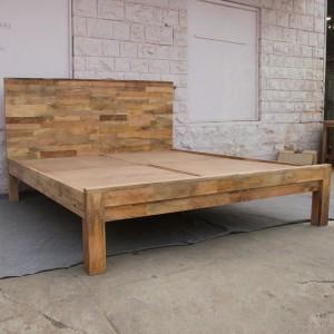 Chip Design Contemporary Boston Bed Frame King Mattress Mango Wood