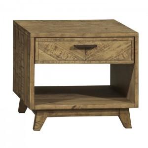 Clovelly designer solid wood Acacia Lamp side table bedside