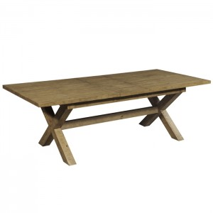 Clovelly designer solid Acacia farmhouse large dining table