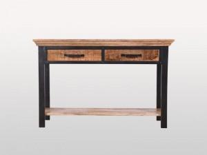 Industrial Solid Wood 2 Drawer Study Desk