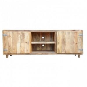 Fridge Door Furniture, Cromer Scandinavian TV Unit - Natural Brown, Solid Mango Wood, Cromer TV stand, solid wood TV stand, mango wood TV stand, TV stand, custom furniture, custom handicraft, indian handicrafts, Retro style TV stand,