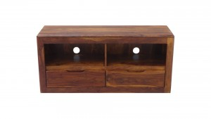 MADE TO ORDER Indian Wooden TV Unit Honey Brown 120x40x55 cm