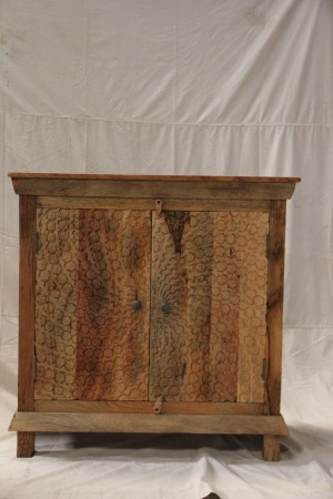 Indian Hand Carved Solid Wooden Beautiful Buffet Storage Sideboard Cabinet  90x40x90cm