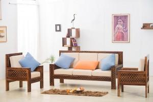 Mogra Antique Brass Work Solid Wood Brass Royal Sofa set B
