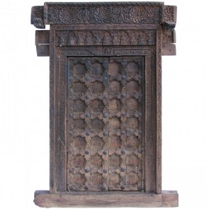 Hand Carved 18th century Brass work Large Indian Door