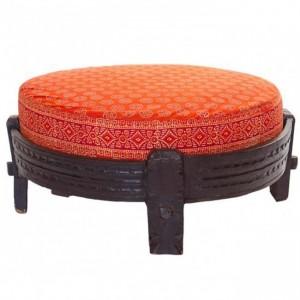 Antique chakki grinder tribal ottoman seat