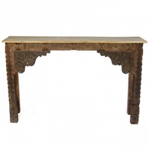 Antique Indian carved Brown Console Hall Table
