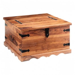 Takat Indian Morrocan solid wood coffee table chest square