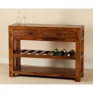 Contemporary Kompact solid wood console hall table
