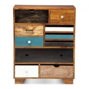 Vivid Solid wood modern dresser chest of drawers tallboy