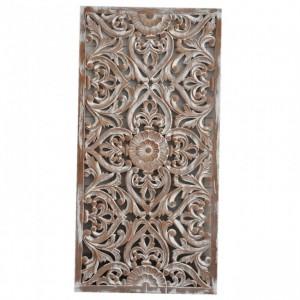 Dynasty Carved Panel Bedhead WhiteWash A